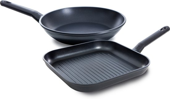 BK Easy Induction Koekenpan en Grillpan 28 + 26 cm