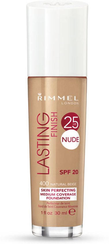 Rimmel London Lasting Finish 25HR Nude Foundation - 400 Natural Beige - Foundation