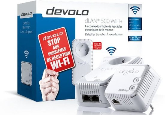 devolo 9255 dlan 500 wifi starter kit. Black Bedroom Furniture Sets. Home Design Ideas
