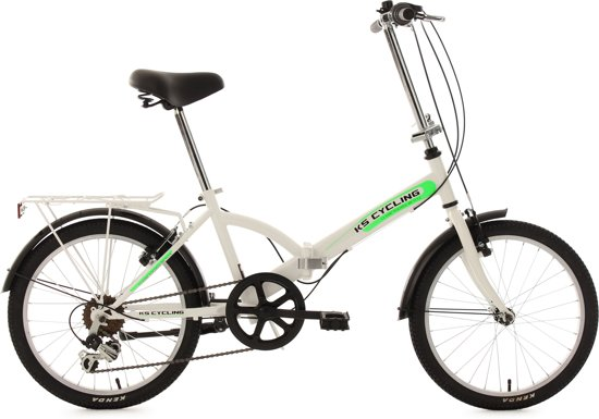 KS Cycling Classic - Vouwfiets - 20 inch - 6V - Wit