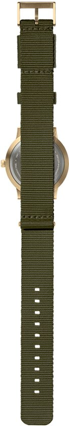 Tube watch T40 brass / green nato strap