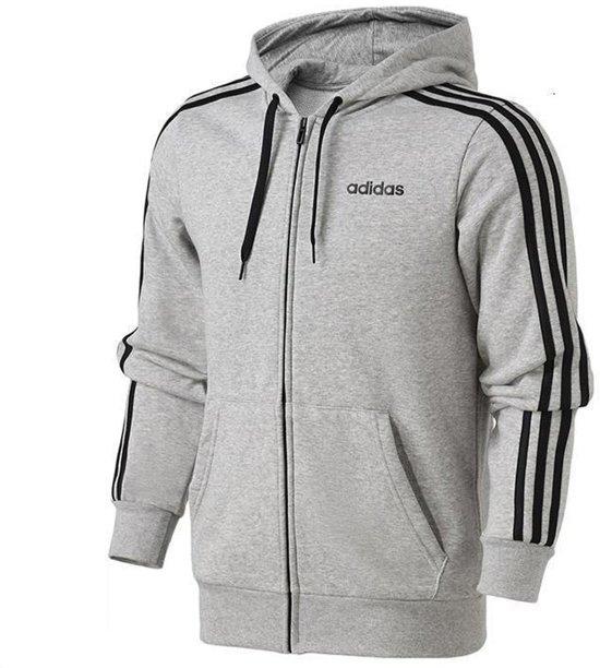 | adidas Essentials 3 Stripes vest heren grijszwart