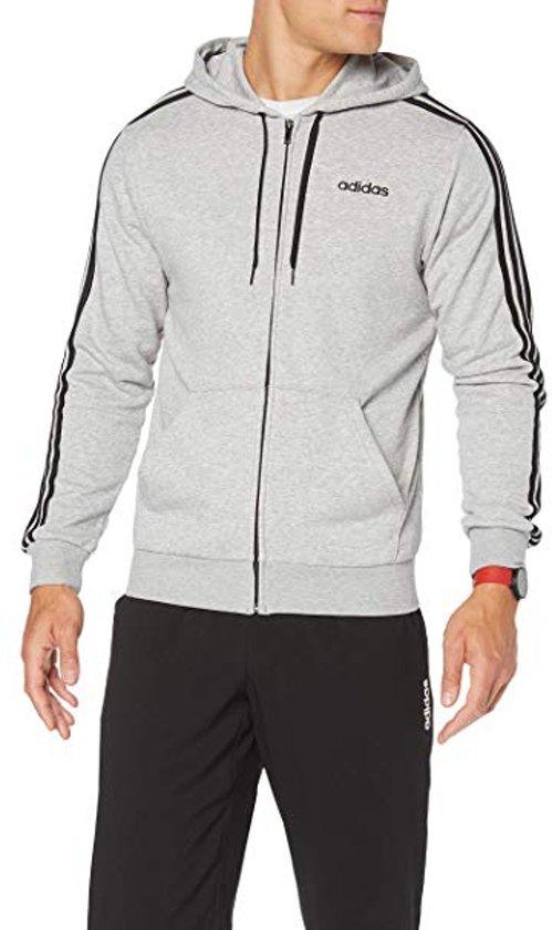 adidas Essentials 3 Stripes vest heren grijszwart