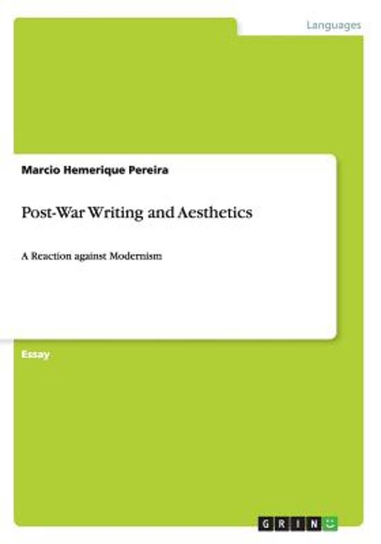 Post-War Writing and Aesthetics