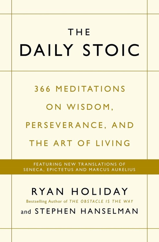 Boek cover The Daily Stoic van Ryan Holiday (Paperback)