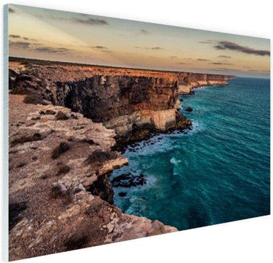 Bunda kliffen Glas 90x60 cm - Foto print op Glas (Plexiglas wanddecoratie)