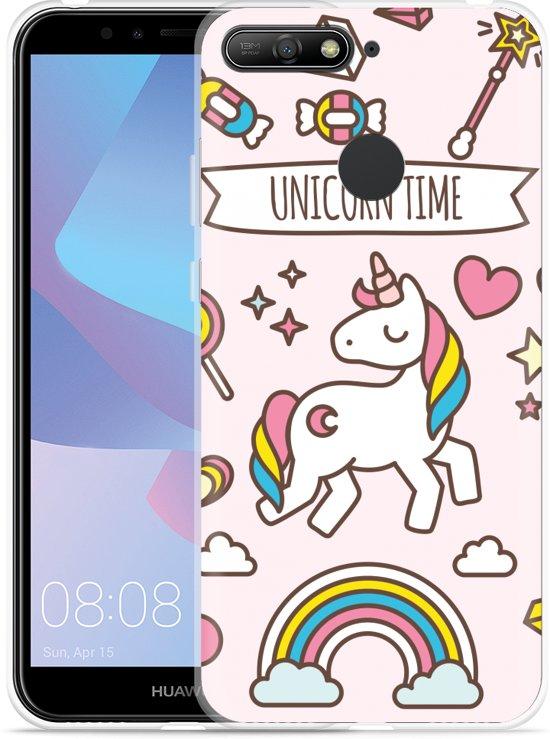 Huawei Y6 2018 Hoesje Unicorn Time