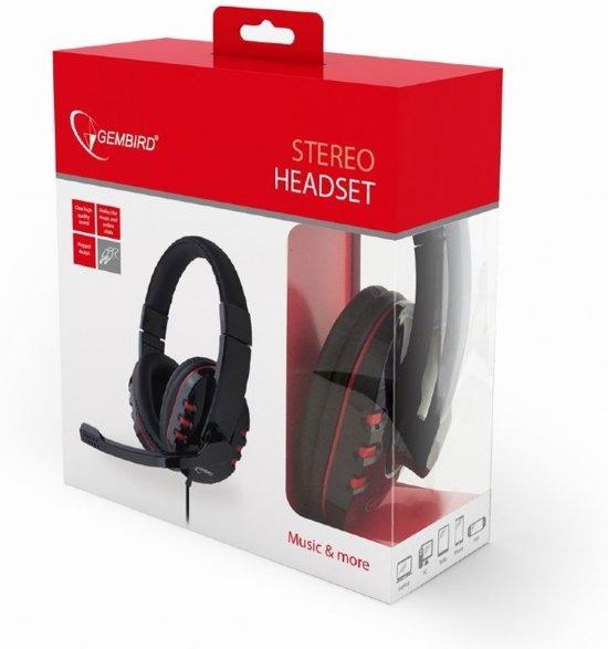Gembird GHS-402 - Gaming headset met microfoon, glossy zwart