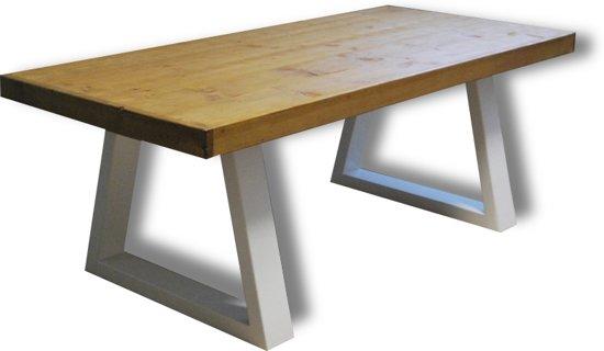 8 Persoons Tafel : Bol tafel sill persoons eettafel bruin wit