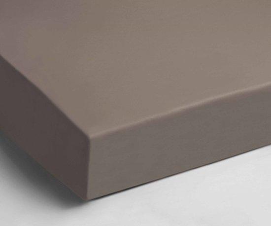 Heerlijk Zachte Velours Hoeslaken Taupe | 180x210 | Soepel En Comfortabel | Ideale Pasvorm