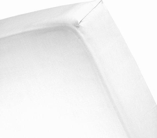 Damai - Waterdicht Hoeslaken (tot 25 cm) - Protect flanel/PU - 120 x 200 cm - White