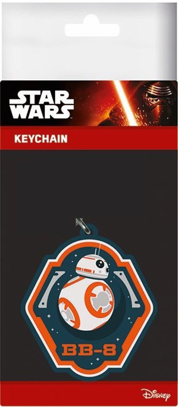 Star wars 7 - rubber keyring - bb-8 6 cm