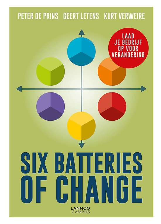 Boek cover Six Batteries of Change van Peter de Prins