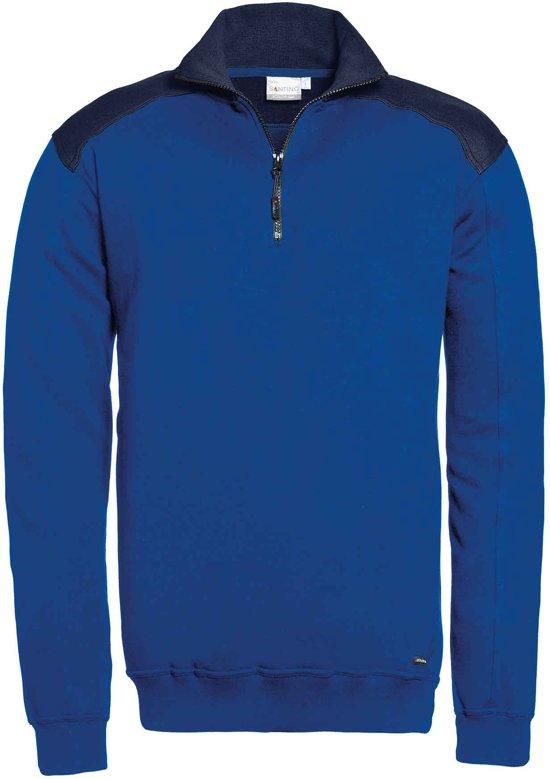 Santino zip-sweater Tokyo - koningsblauw / navy - maat S