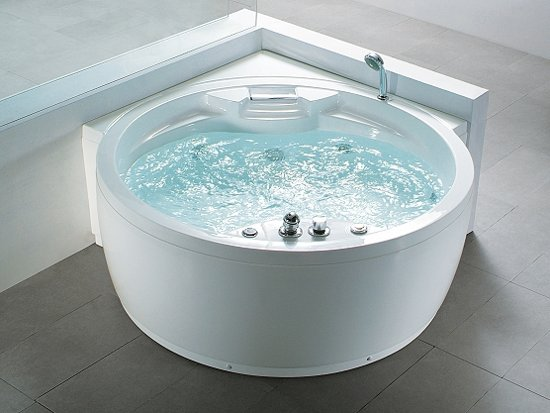whirlpool bad rond spa indoor jacuzzi bubbelbad milano. Black Bedroom Furniture Sets. Home Design Ideas