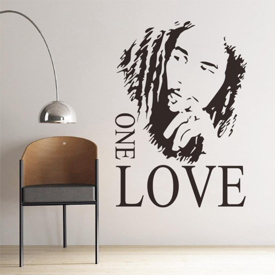 Sticker Teksten Voor Op De Muur.Bol Com Bob Marley One Love Quotes Tekst Muur Sticker
