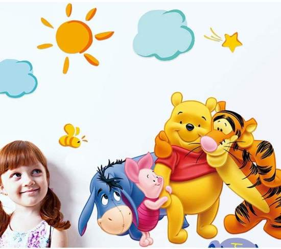 bol | muursticker babykamer, winnie the pooh, Deco ideeën