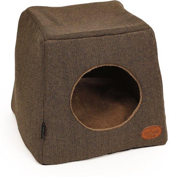 Warm en Comfortabel Kattenhuis in 4 Kleuren (Antraciet, Grijs, Bruin en Naturel)