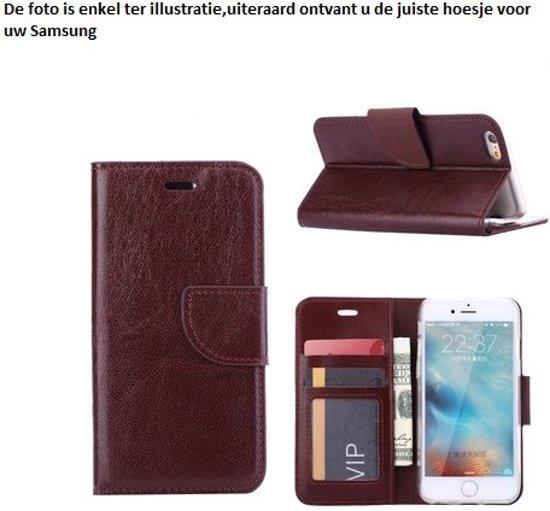 PaxxMobile Basixx Hoesje voor Samsung Galaxy S4 i9500 i9505 i9515 Boek Hoesje Book Case Bruin