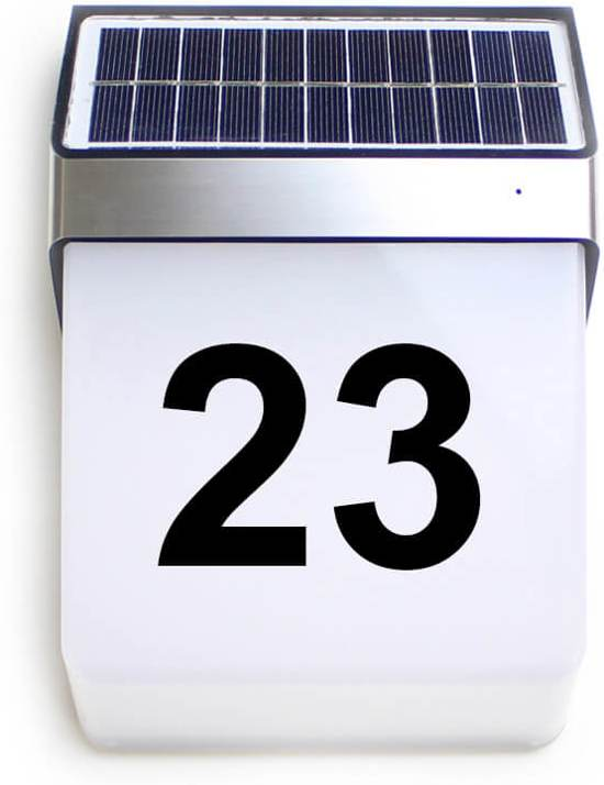 bol.com | Solar Huisnummer Digit op zonne energie inclusief nummers ...