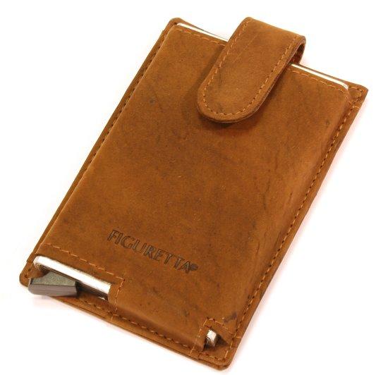 Figuretta RFID Card Portector - Creditcardhouder - Leer - Bruin