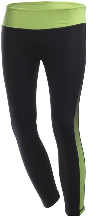 Lady 3/4 Leggings With Contrast Details-black