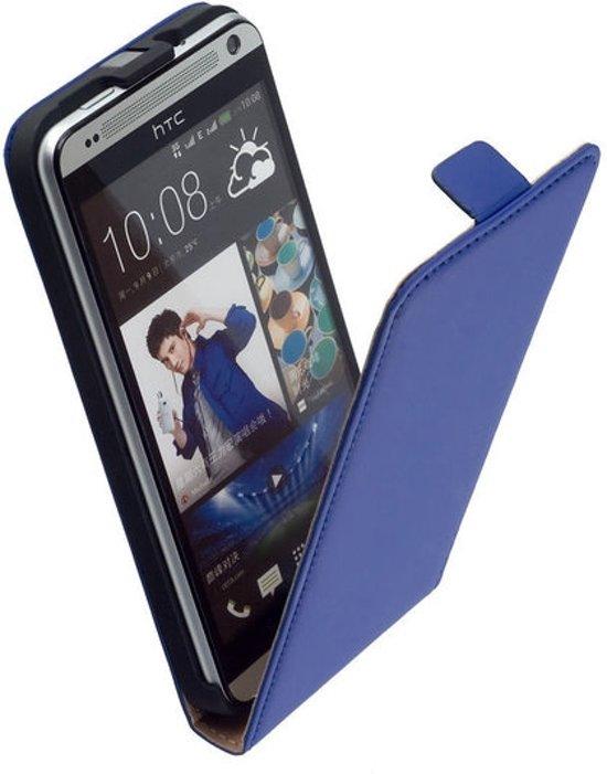 MiniPrijze - Blauw HTC Desire 700 Premium lederen flip case flip cover - klap cover - bechermhoes. in Broek-Zuid