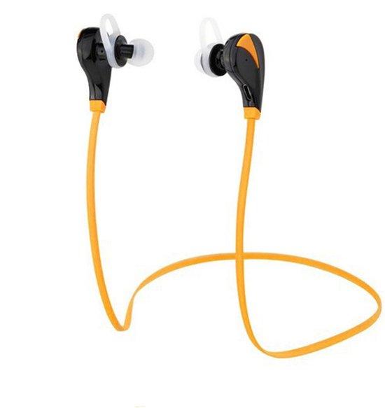Bluetooth 4.1 In-ear Oortjes | Draadloze Koptelefoon | Wireless Headset | Oortjes | Oortje | Hoofdtelefoon | Oortelefoon | Inear Headphones | Headphone | Draadloos | Sport Headsets | Earbud | Ear-bud | Muziek | Earphones | Oranje in Harfsen