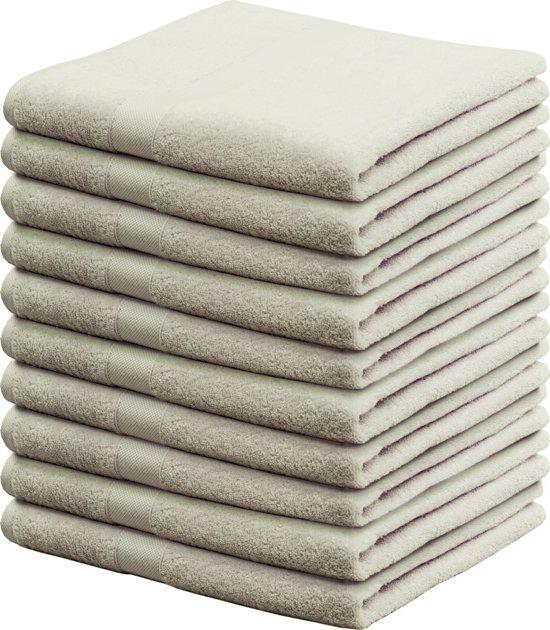 bol |walra - handdoek - 50 x 100 - zand - set van 10