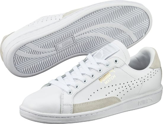 d5cec2e1f10 bol.com | Puma Match 74 UPC - Sneakers - Heren - White-White-Gold ...