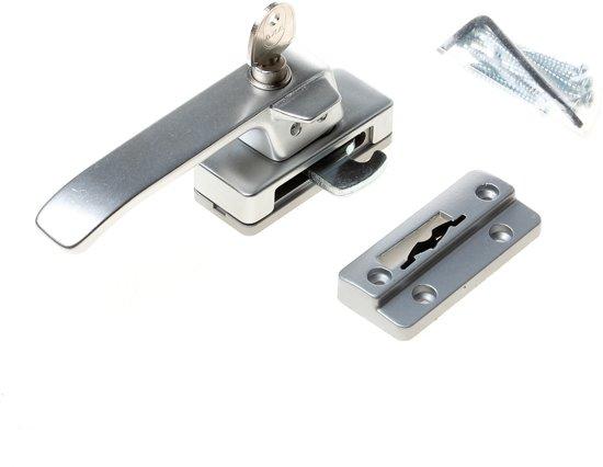 AXA 3329 Veiligheids raamsluiting - 3329-61-91/GE - draairichting 4 -grijs zijdemat metallic