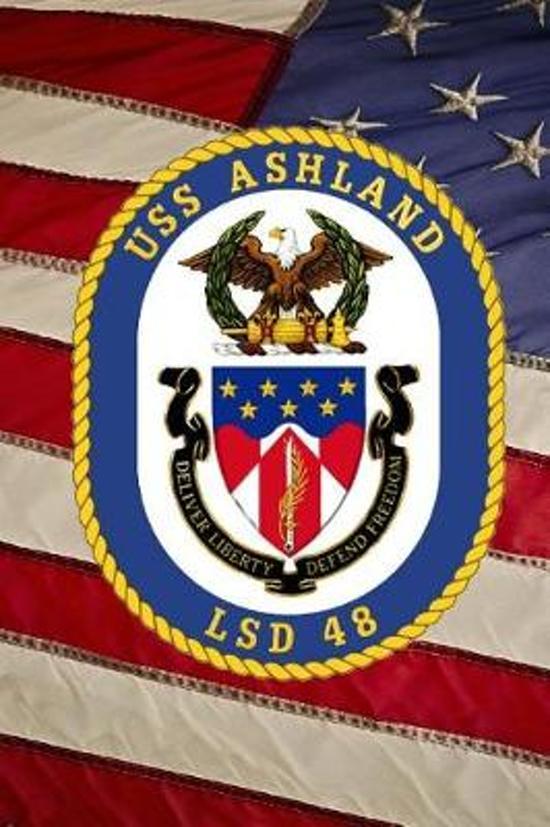US Navy Dock Landing Ship USS Ashland (LSD 48) Crest Badge Journal