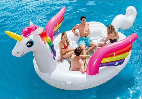 Intex Opblaasbaar Unicorn Party Eiland - Opblaasfiguur