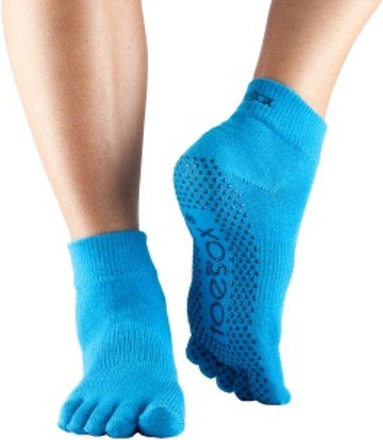 Yoga - Pilates anti-slip TeenSokken ToeSox - blauw