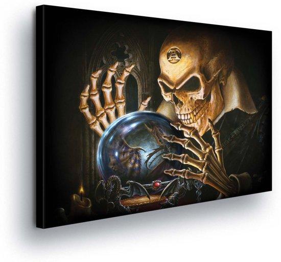 Fortune Teller Skeleton Canvas Print 100cm x 75cm