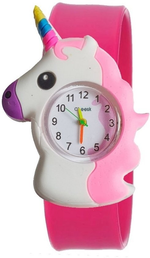 Unicorn Kinderhorloge Fuchsia - Slap On Mini - Eenhoorn