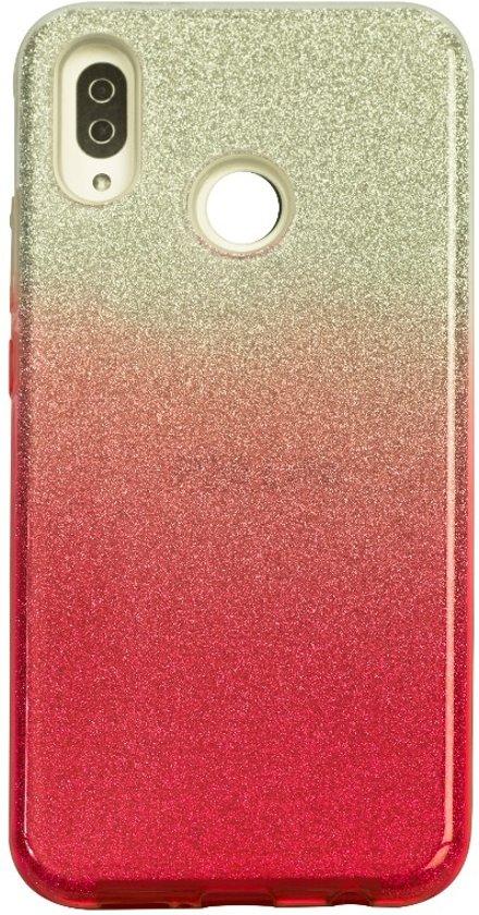 Huawei P20 Lite Semi Glitter telefoonhoesje - Rood