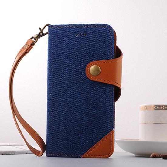 iPhone 7 Plus Bookcase Hoesje - Portemonnee Hoesje - Telefoonhoesje - Cover - Bookstyle Hoesje - Booktype Hoesje - Klap Hoesje - Flip Cover - Smartphonehoesje - Wallet Hoesje - Boek Hoesje - Book Case - Portefeuille Hoesje - Case - Bookstyle Case - Hoes - Beschermhoesje - Wallet Case - Donkerblauw in Boorsem
