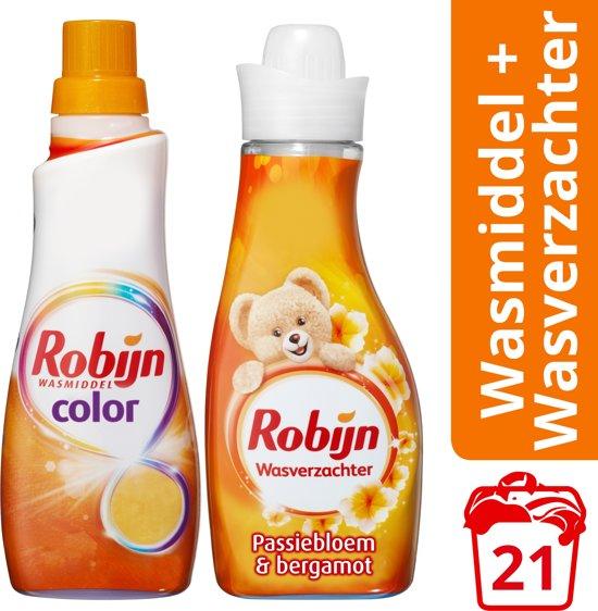 Robijn Color Klein & Krachtig wasmiddel en wasverzachter color - 5 stuks