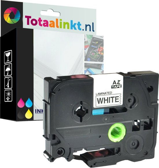 Brother P-Touch GL 100 (TZe231) 12mm Black op wit Gelamineerd zelfklevend tape   huismerk