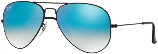 39889101726 Ray-Ban RB3025 002 4O - Aviator (Flash) - zonnebril - Zwart