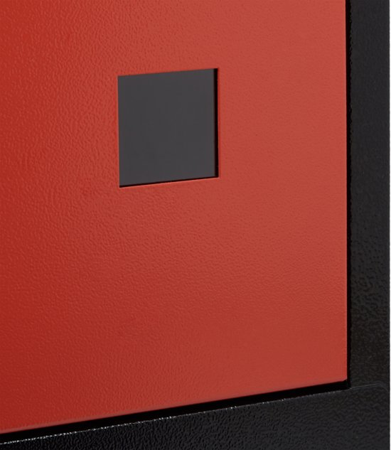 relaxdays brievenbus groot veiligheidsklep muurbrievenbus wandbrievenbus mailbox zwart-rood
