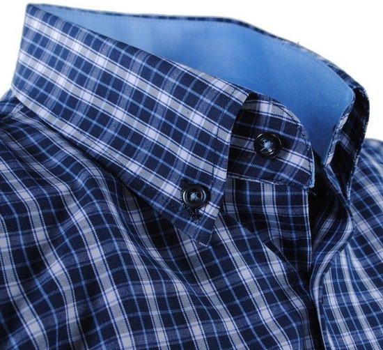 Overhemd Borstzak Geblokt PoloHeren Enrico Navy Wit OZPkXiuwT