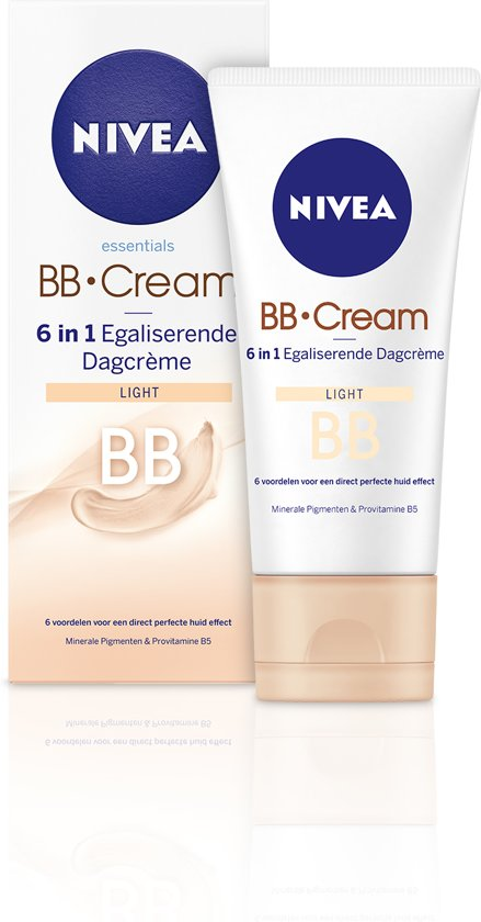 NIVEA Essentials BB Cream 6 in 1 Egaliserende Dagcrème Light - SPF10 - 50 ml