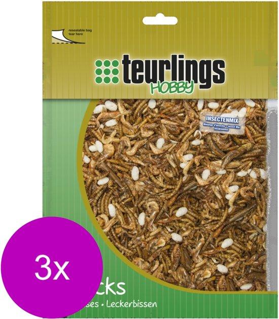 Teurlings Insectenmix - Kippenvoer - 3 x 150 g