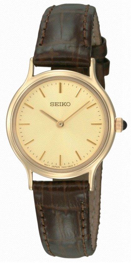 Seiko SFQ832P1 - Horloge - 26 mm - Bruin