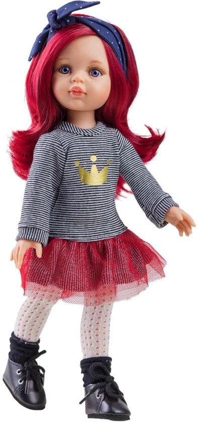 Paola Reina Pop Amigas Dasha rood haar (32cm)