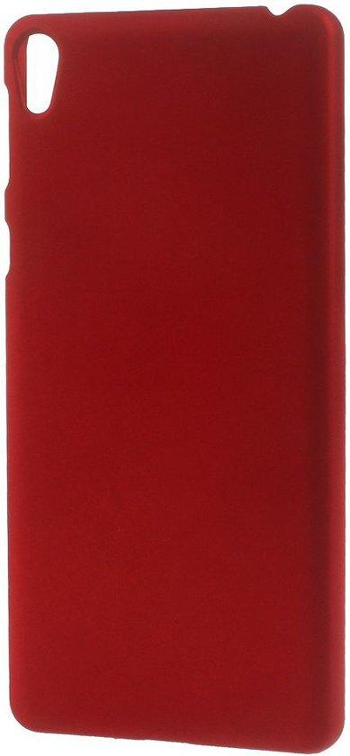 Sony Xperia E5 PC Rubberized Hard Case Rood in Nijkerk