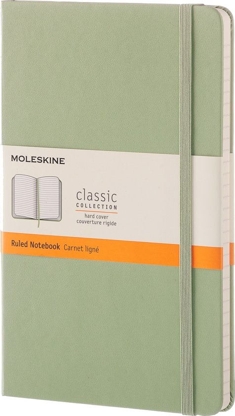 Moleskine Classic Notebook - Large - Ruled - Hard Cover - Willow Green