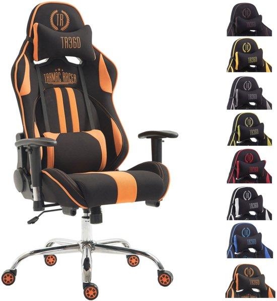 Bureaustoel Met Voetsteun.Clp Limit Xl Racing Bureaustoel Stof Zwart Oranje Zonder